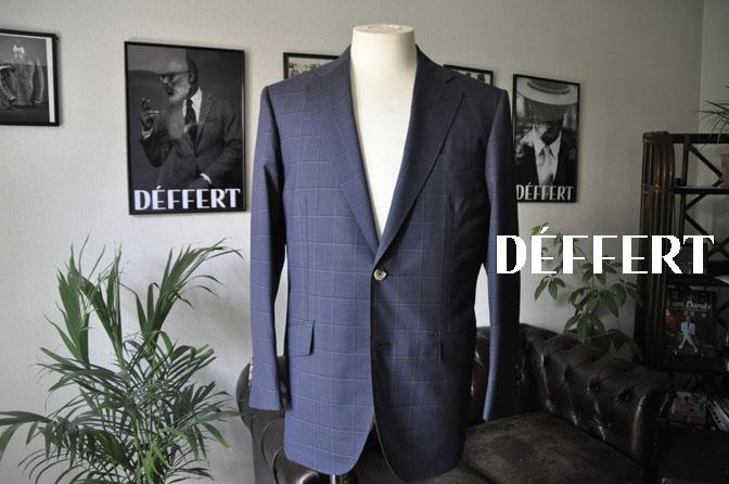 0343045f3c3a1f6af9df3acedf9ab1bf お客様のスーツの紹介-TALLIA DI DELFINO ネイビーウィンドペン -