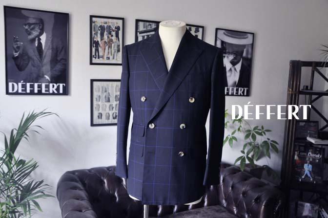 39de7d3aa33a4125b33c84f8de1b9cce お客様のスーツの紹介-DARROW DALE ネイビーウィンドペン ダブルスーツ-
