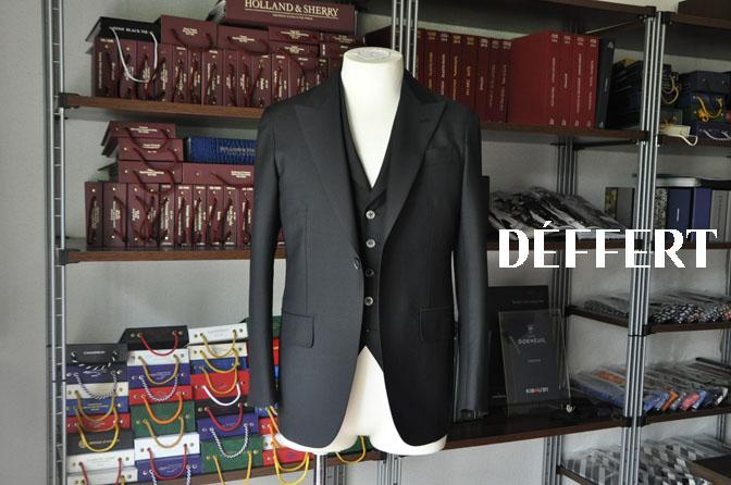 3dbd52623bba3805f416688a64c310fa スーツの紹介-CANONICO wool mohair 無地ブラックスリーピース-