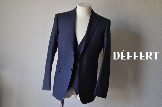 3e1d12f2d3c4032d0c84ea3257f6397e お客様のスーツの紹介-CANONICO 無地ネイビースリーピーススーツ -