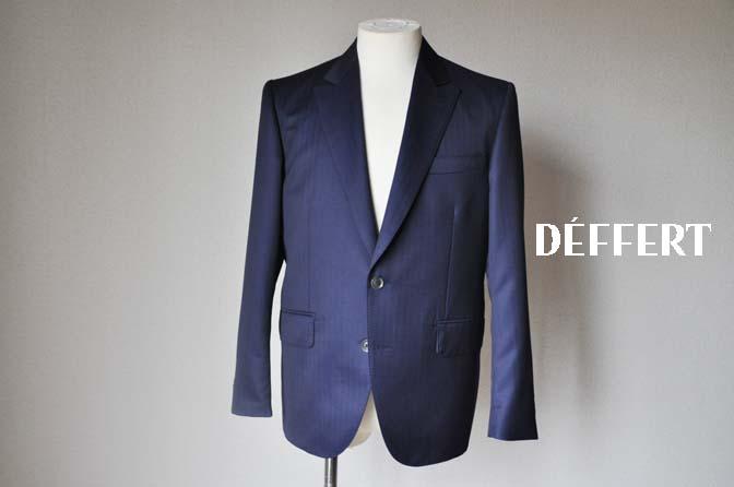 50fc80a37508b79cceeaf77a2d57c972 お客様のスーツの紹介-御幸毛織 ネイビーヘリンボーン-