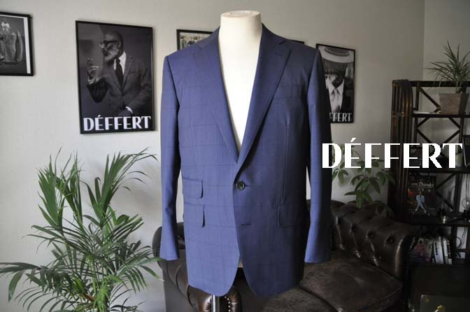 56788c320946859a57031d069baa19e5 お客様のスーツの紹介-Biellesi ネイビーウィンドペン- 名古屋の完全予約制オーダースーツ専門店DEFFERT