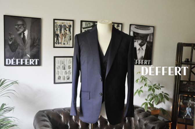 762f2e2467e5c4fa6d5e01cea7376177 お客様のスーツの紹介-Biellesi 無地ネイビースリーピース-