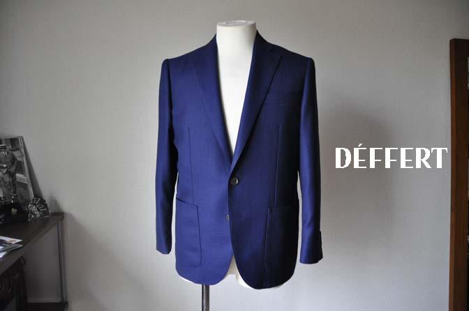 9659bcffa9882296d48c06aeb23debca お客様のジャケットの紹介-CANONICO ネイビーホップサックジャケット-
