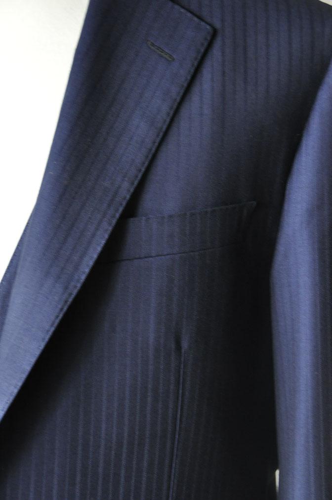 9c5c271bf49fa4cbd890e704530762e6 お客様のスーツの紹介-御幸毛織 ネイビーシャドーストライプ-