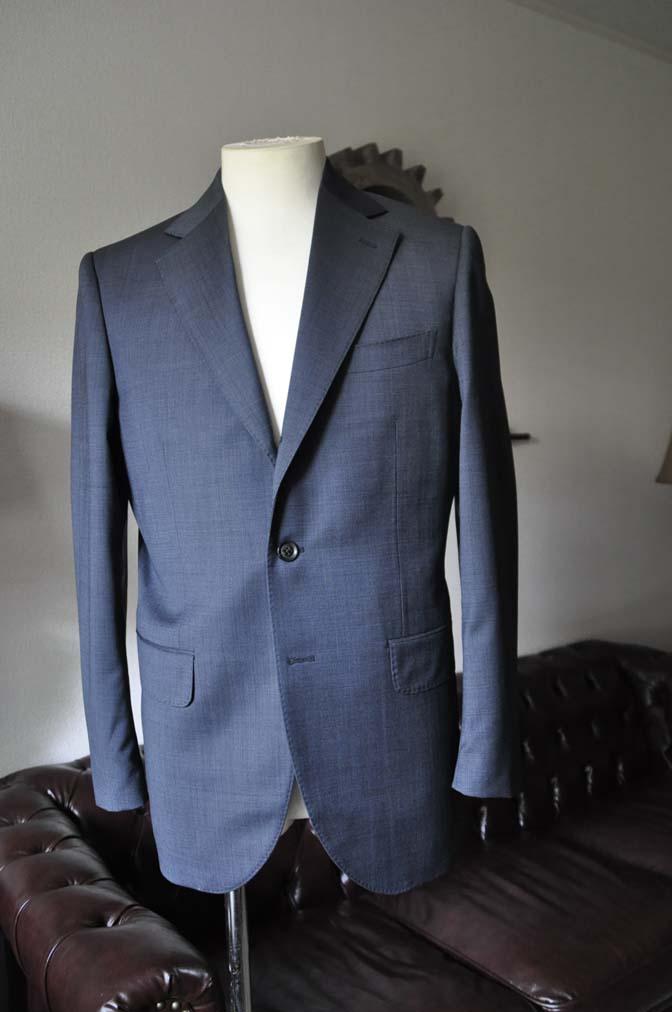 DSC0005-1 お客様のスーツの紹介- Biellesi ネイビーグレー- 名古屋の完全予約制オーダースーツ専門店DEFFERT