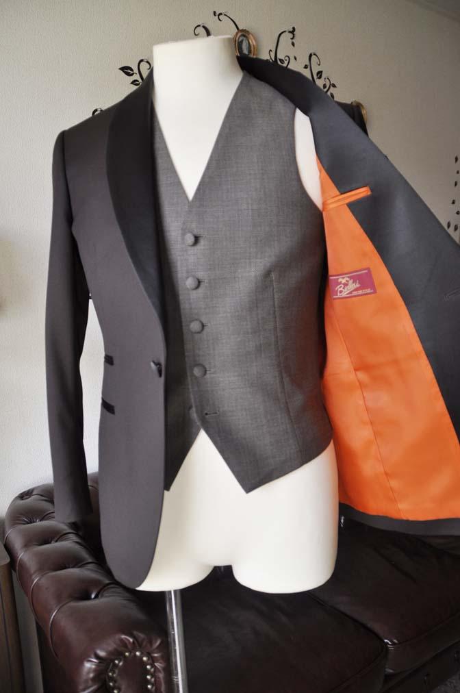 DSC0005-4 お客様のウエディング衣装の紹介- Biellesiブラウンタキシード-