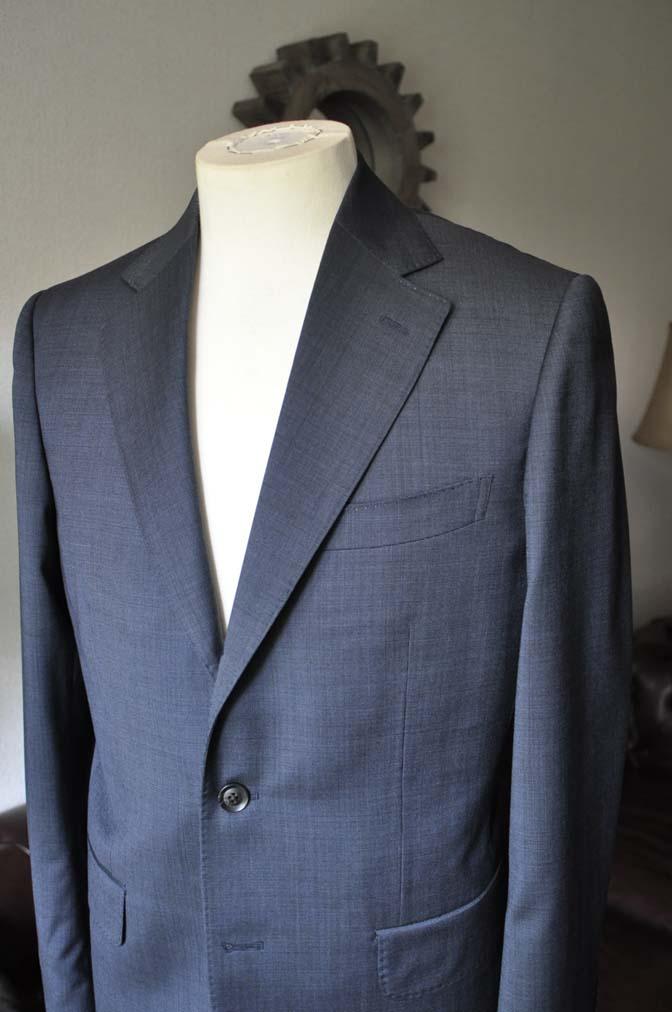 DSC0006-1 お客様のスーツの紹介- Biellesi ネイビーグレー- 名古屋の完全予約制オーダースーツ専門店DEFFERT