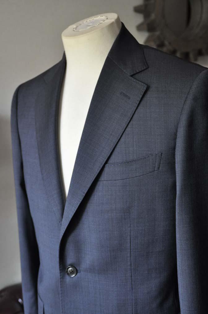 DSC0007-1 お客様のスーツの紹介- Biellesi ネイビーグレー- 名古屋の完全予約制オーダースーツ専門店DEFFERT