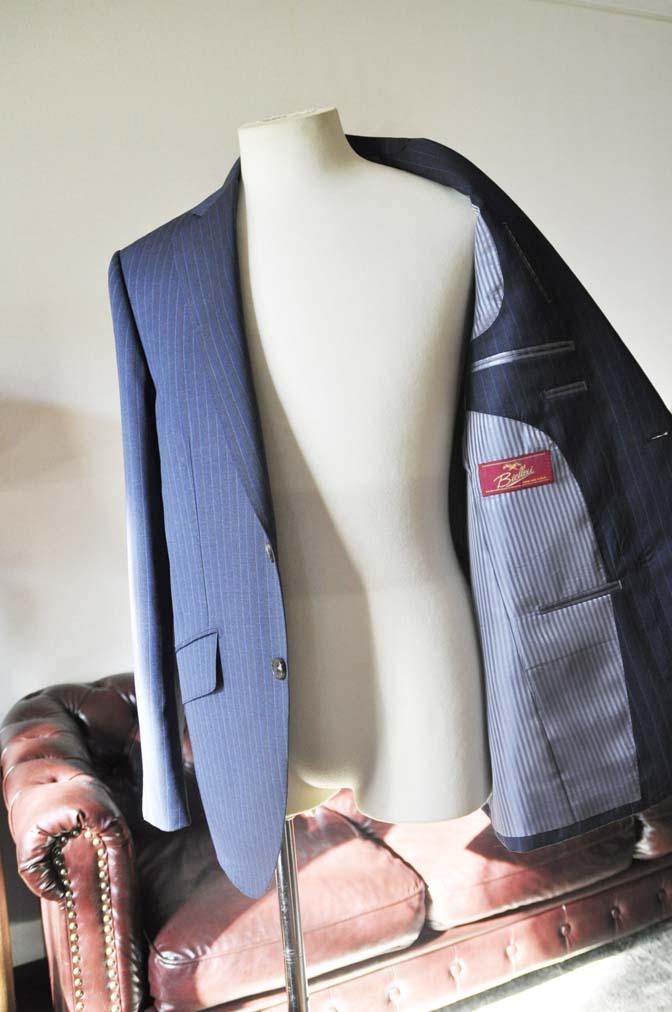 DSC0007-4 お客様のスーツの紹介-Biellesi ネイビーストライプスーツ-