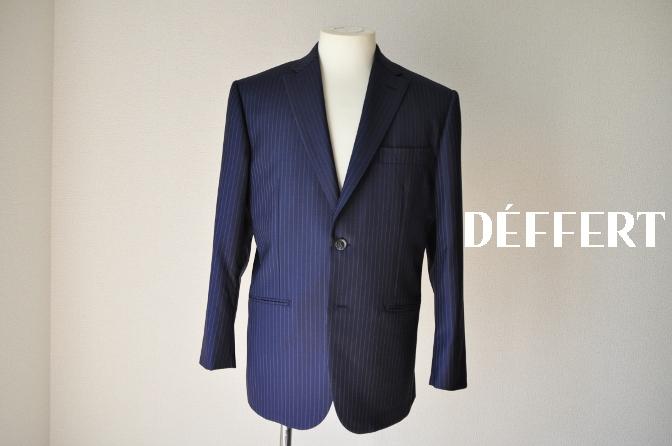 DSC00071 お客様のスーツの紹介-CANONICO ネイビーストライプ- 名古屋の完全予約制オーダースーツ専門店DEFFERT