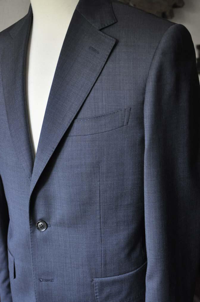 DSC0008-1 お客様のスーツの紹介- Biellesi ネイビーグレー- 名古屋の完全予約制オーダースーツ専門店DEFFERT