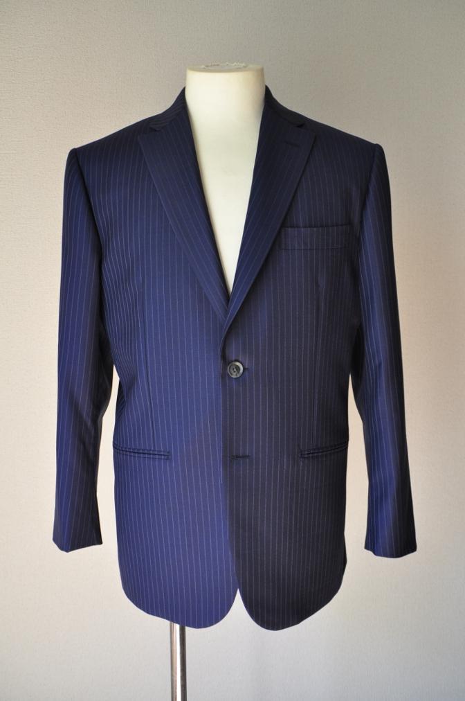 DSC00081 お客様のスーツの紹介-CANONICO ネイビーストライプ- 名古屋の完全予約制オーダースーツ専門店DEFFERT