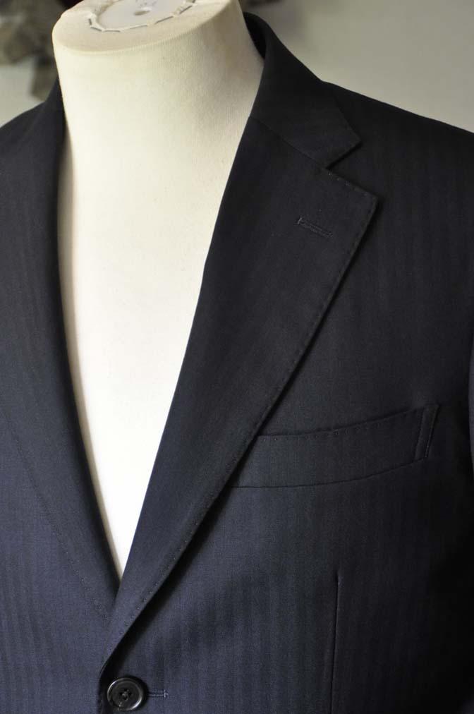 DSC0009-2 お客様のスーツの紹介-ネイビーヘリンボーン-