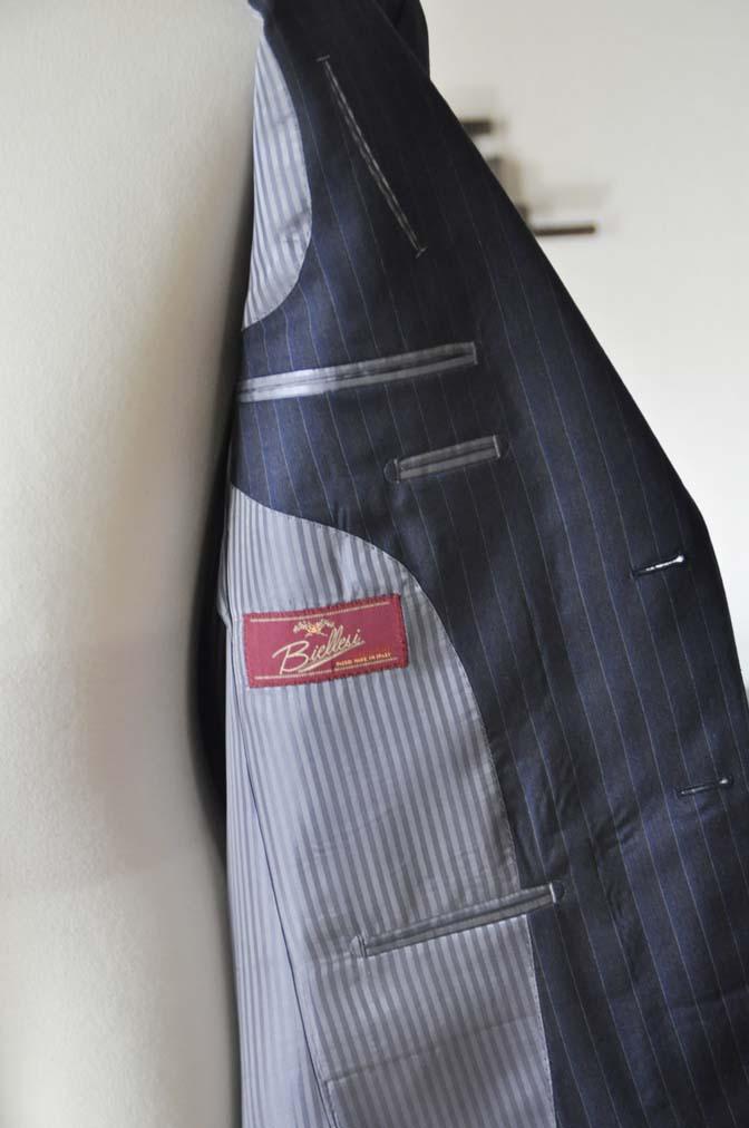 DSC0009-4 お客様のスーツの紹介-Biellesi ネイビーストライプスーツ-