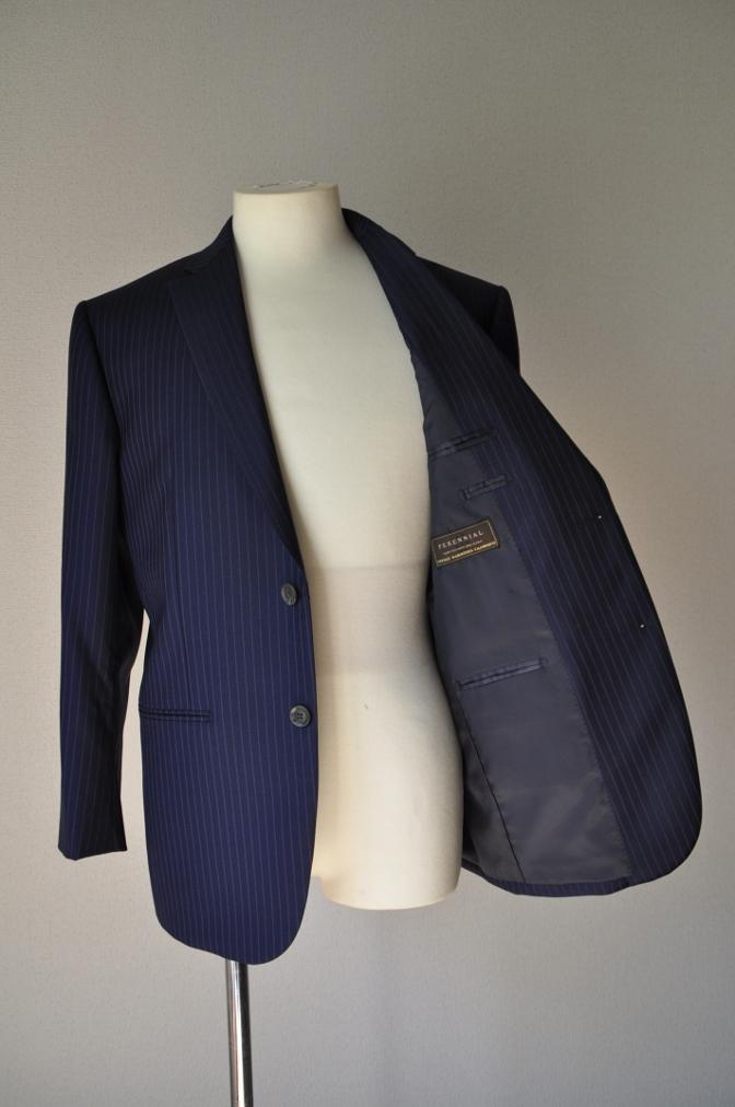 DSC0009 お客様のスーツの紹介-CANONICO ネイビーストライプ- 名古屋の完全予約制オーダースーツ専門店DEFFERT