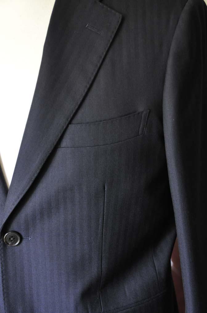 DSC0010-2 お客様のスーツの紹介-ネイビーヘリンボーン-