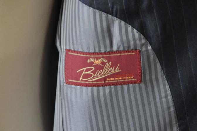 DSC0010-4 お客様のスーツの紹介-Biellesi ネイビーストライプスーツ-