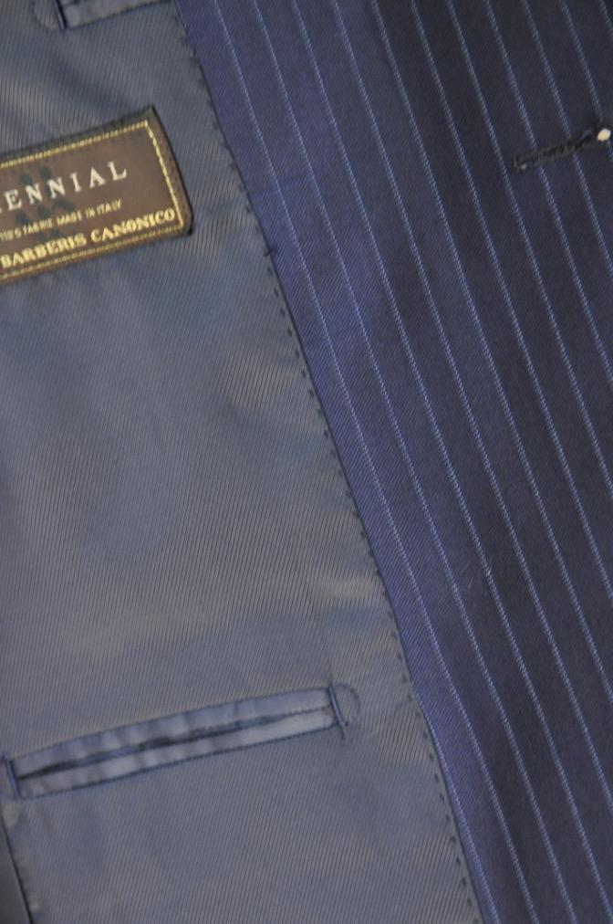 DSC0010 お客様のスーツの紹介-CANONICO ネイビーストライプ- 名古屋の完全予約制オーダースーツ専門店DEFFERT