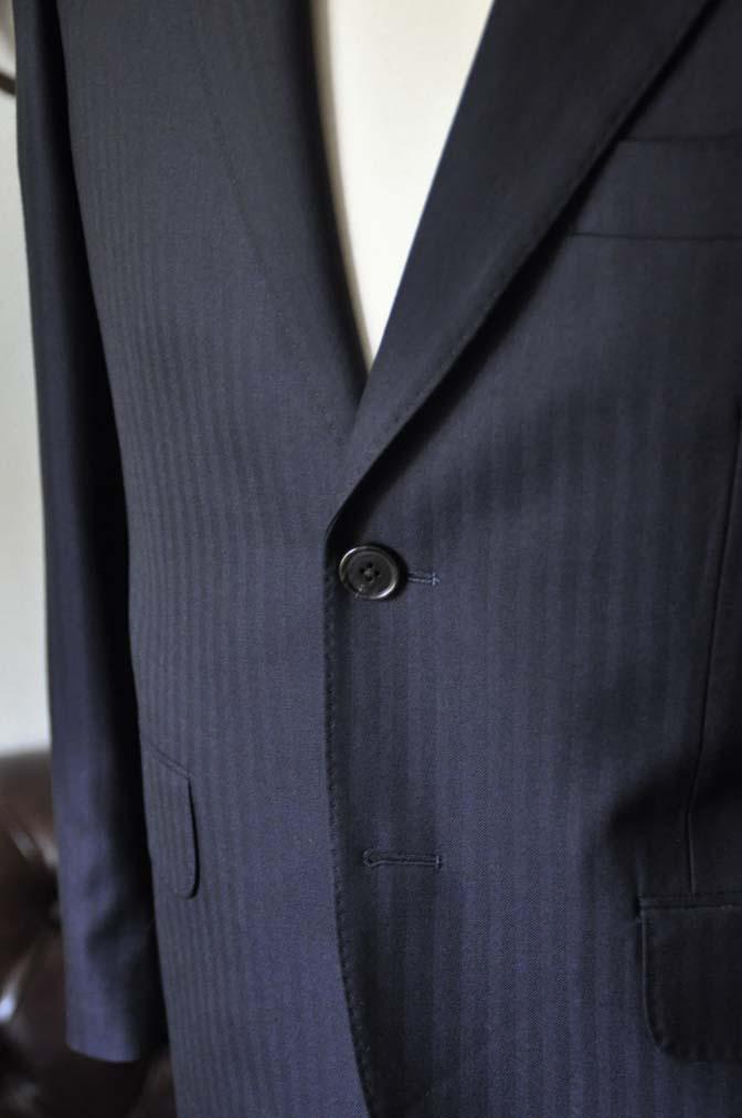 DSC0011-2 お客様のスーツの紹介-ネイビーヘリンボーン-