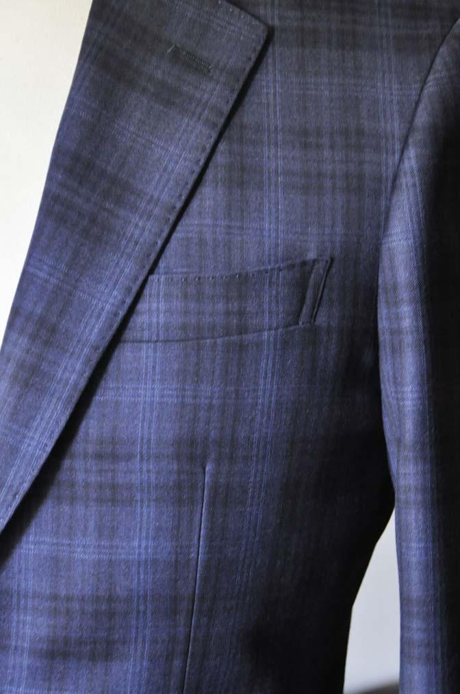 DSC0011-3 お客様のスーツの紹介- Canonico ネイビーチェックスーツ-