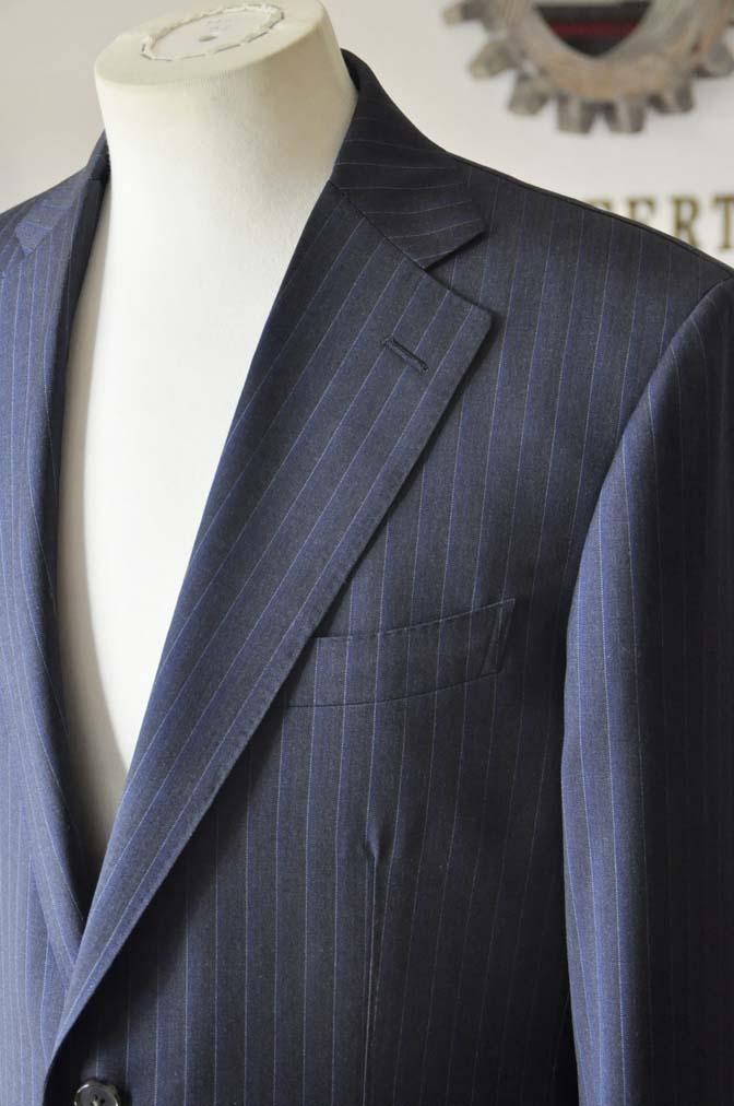 DSC0011-4 お客様のスーツの紹介-Biellesi ネイビーストライプスーツ-