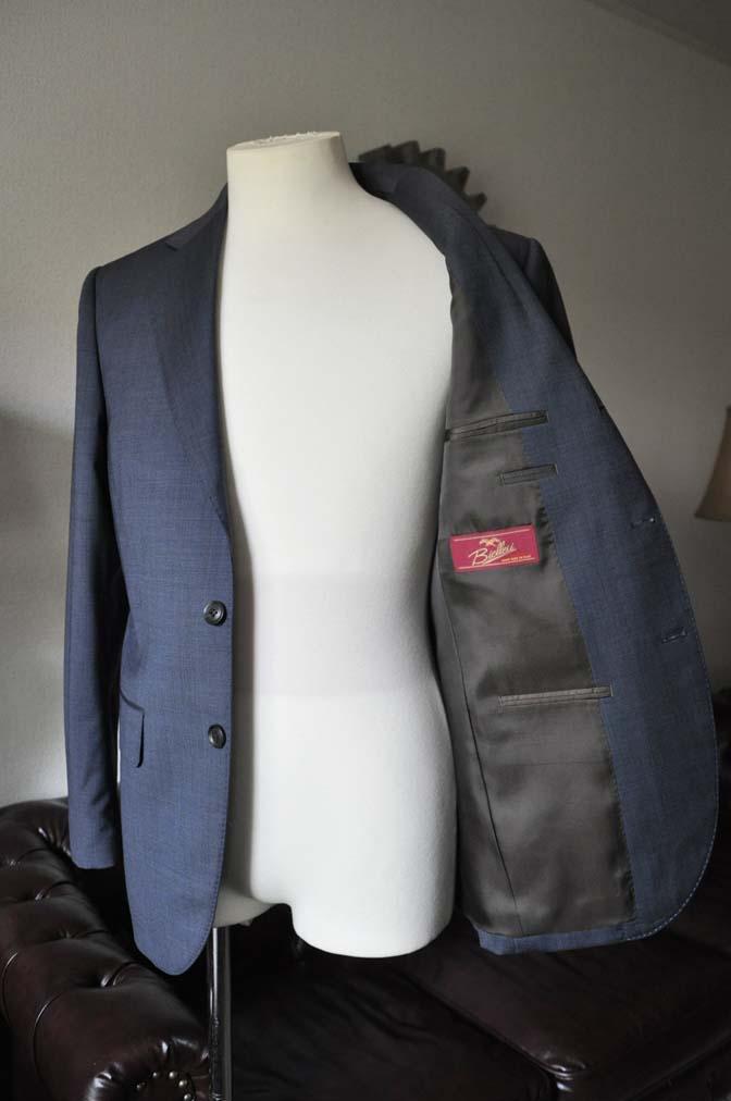 DSC0012-1 お客様のスーツの紹介- Biellesi ネイビーグレー- 名古屋の完全予約制オーダースーツ専門店DEFFERT