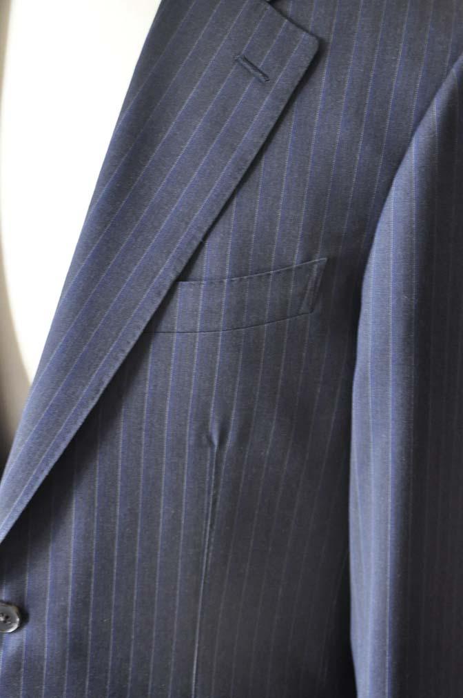 DSC0012-4 お客様のスーツの紹介-Biellesi ネイビーストライプスーツ-