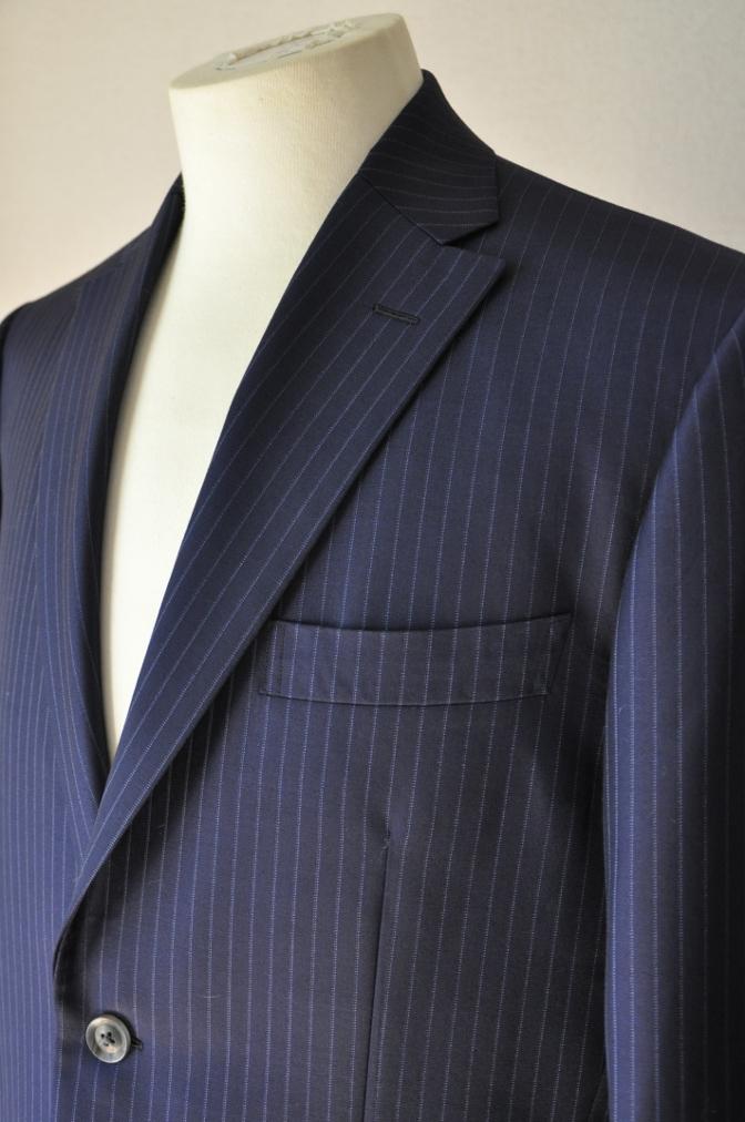 DSC00121 お客様のスーツの紹介-CANONICO ネイビーストライプ- 名古屋の完全予約制オーダースーツ専門店DEFFERT