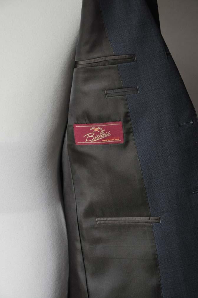 DSC0013-1 お客様のスーツの紹介- Biellesi ネイビーグレー- 名古屋の完全予約制オーダースーツ専門店DEFFERT
