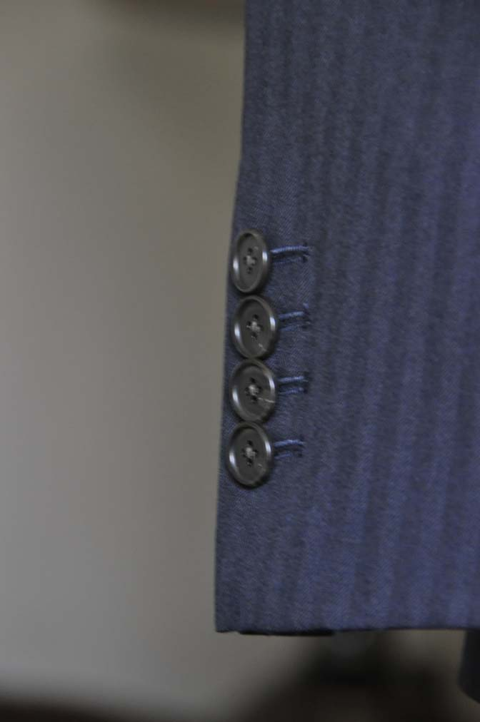 DSC0013-2 お客様のスーツの紹介-ネイビーヘリンボーン-