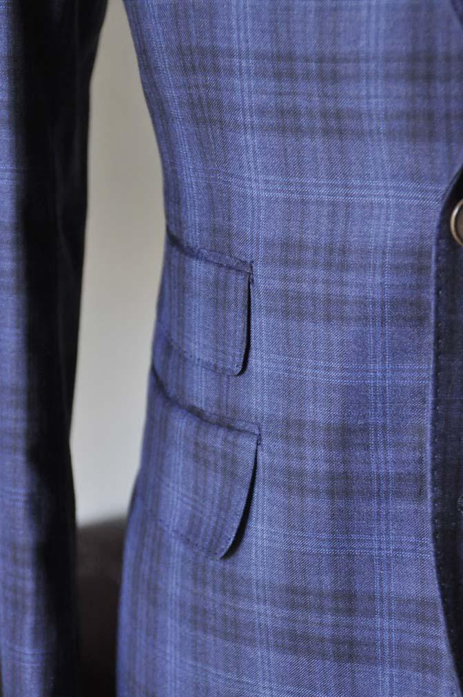 DSC0013-3 お客様のスーツの紹介- Canonico ネイビーチェックスーツ-