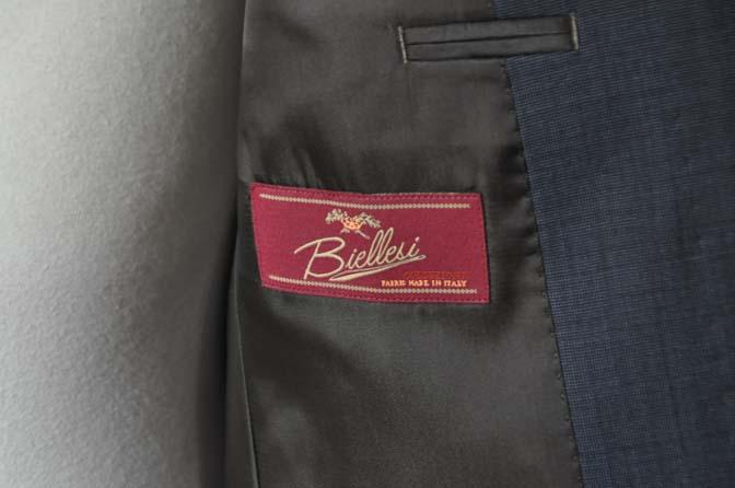 DSC0014-1 お客様のスーツの紹介- Biellesi ネイビーグレー- 名古屋の完全予約制オーダースーツ専門店DEFFERT