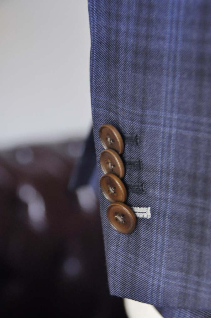 DSC0015-1 お客様のスーツの紹介- Canonico ネイビーチェックスーツ-