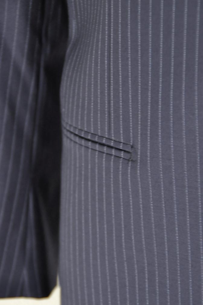 DSC00233 お客様のスーツの紹介-CANONICO ネイビーストライプ- 名古屋の完全予約制オーダースーツ専門店DEFFERT