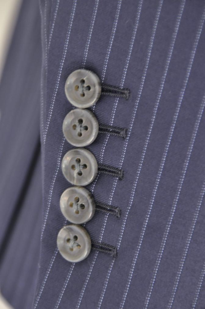 DSC00242 お客様のスーツの紹介-CANONICO ネイビーストライプ- 名古屋の完全予約制オーダースーツ専門店DEFFERT