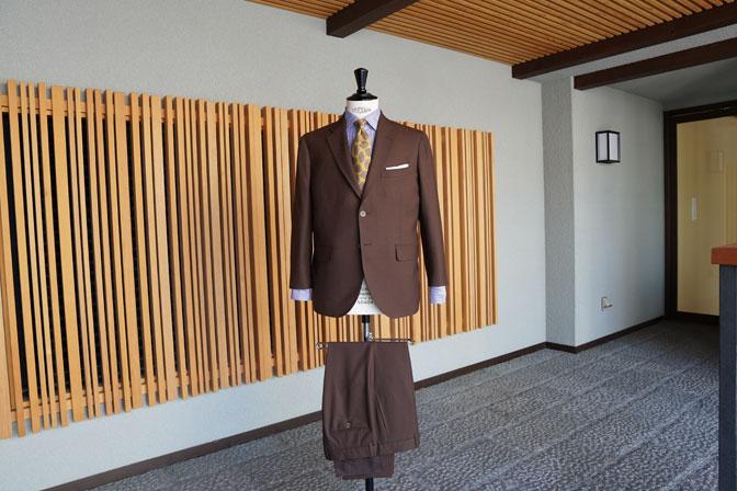 DSC00259 オーダースーツの紹介-MARLING & EVANSブラウンスーツ-
