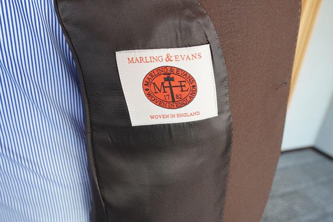 DSC00262-1 オーダースーツの紹介-MARLING & EVANSブラウンスーツ-