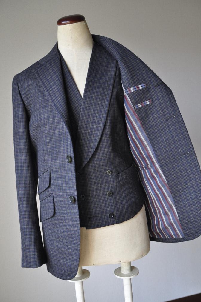 DSC00272 お客様のスーツの紹介-チェック柄ダブルジレスリーピース-