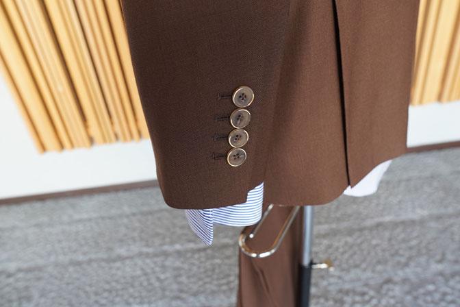 DSC00275 オーダースーツの紹介-MARLING & EVANSブラウンスーツ-