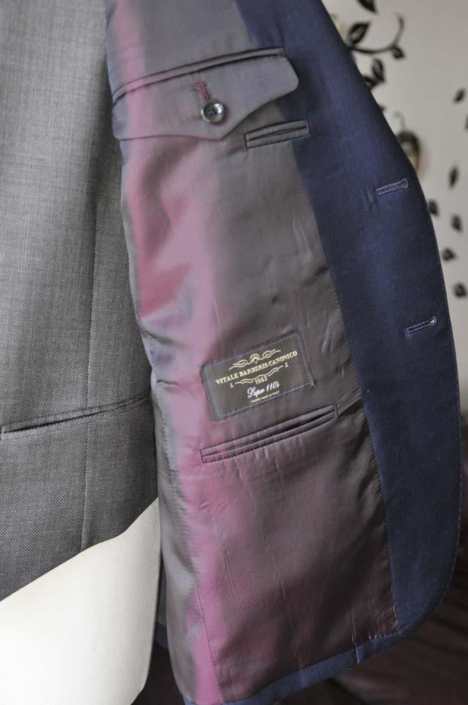 DSC0031-4 お客様のウエディング衣装の紹介- CANONICO無地ネイビースーツ グレーベスト-DSC0031-4 お客様のウエディング衣装の紹介- CANONICO無地ネイビースーツ グレーベスト- 名古屋市のオーダータキシードはSTAIRSへ