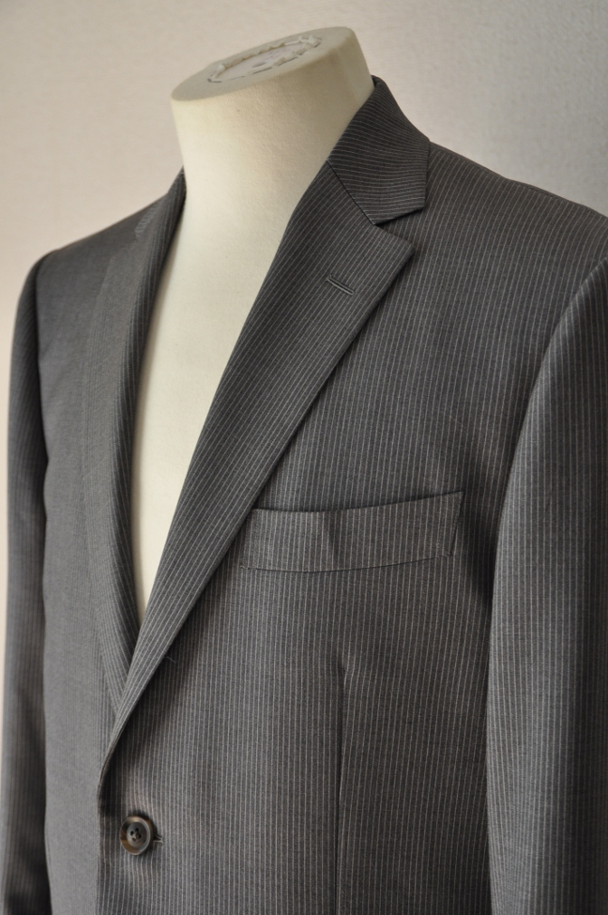 DSC00313 お客様のスーツの紹介-BIELLESI グレーストライプ-
