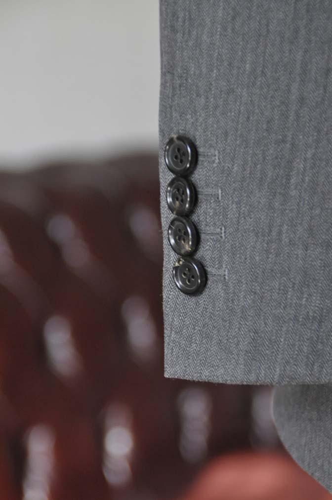 DSC0036-4 お客様のスーツの紹介-Biellesiグレーヘリンボーン スリーピース-
