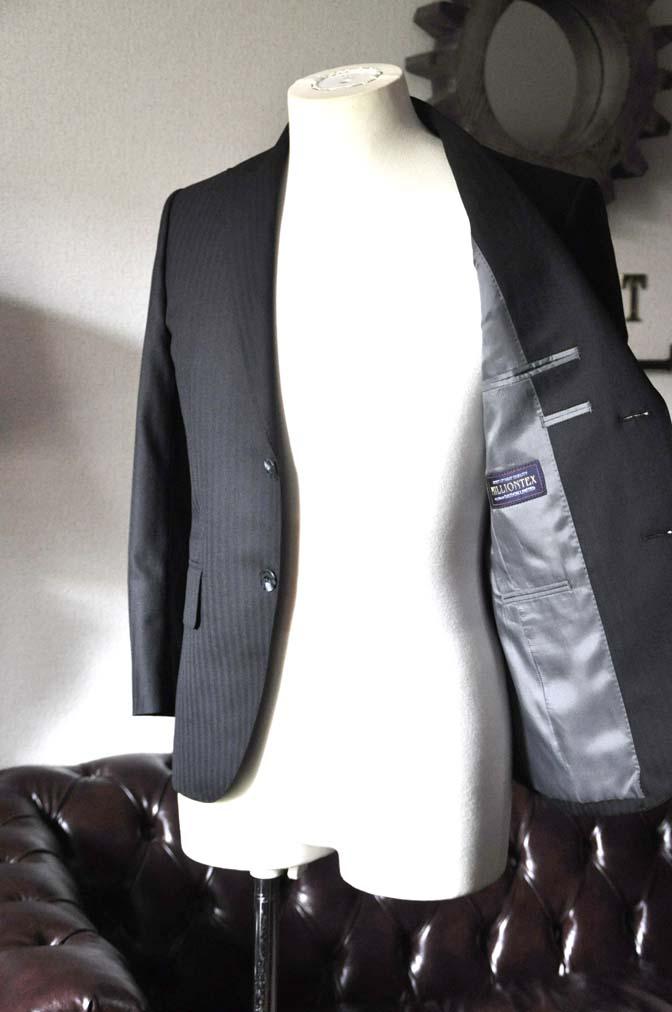 DSC0037-3 お客様のスーツの紹介-ブラックヘリンボーンスーツ- 名古屋の完全予約制オーダースーツ専門店DEFFERT