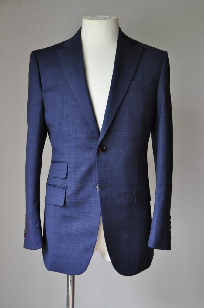 DSC00411 お客様のスーツの紹介-BIELLESI ネイビーチェック-