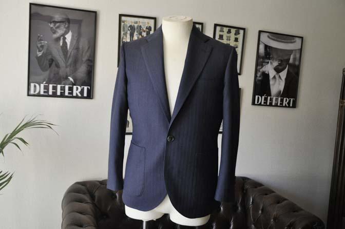 DSC00423 お客様のジャケットの紹介- REDA ネイビーヘリンボーン-