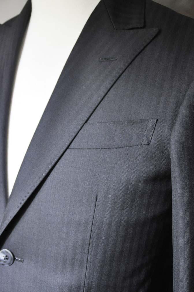 DSC0043-1 お客様のスーツの紹介-ブラックヘリンボーンスーツ- 名古屋の完全予約制オーダースーツ専門店DEFFERT