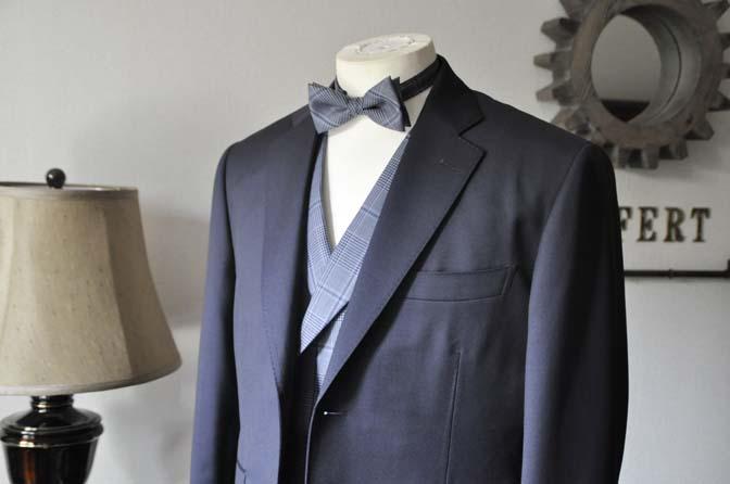 DSC0043-2 お客様のウエディング衣装の紹介-Biellesi ネイビースーツ ネイビーチェックベスト-