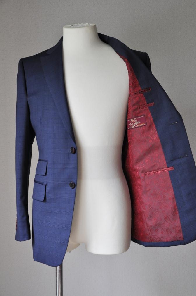 DSC00433 お客様のスーツの紹介-BIELLESI ネイビーチェック-