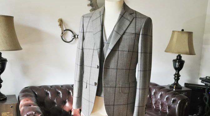お客様のスーツの紹介- DARROW DALE ブラウンチェックスリーピース-